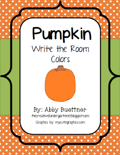 http://www.teacherspayteachers.com/Product/Pumpkin-Colors-Write-the-Room-927232