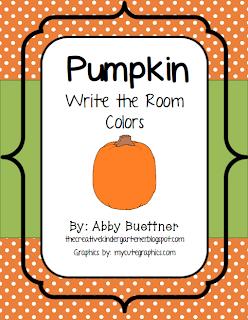 http://www.teacherspayteachers.com/Product/Pumpkin-Colors-Write-the-Room-927232