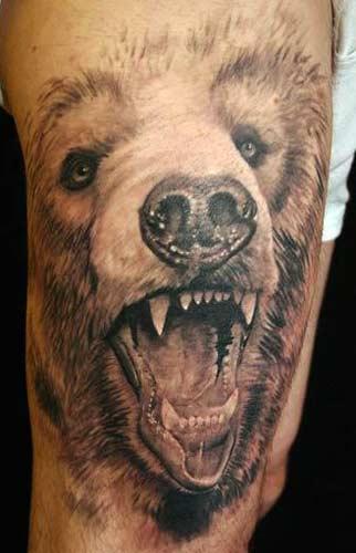 beautiful+3d+tattoo+bear