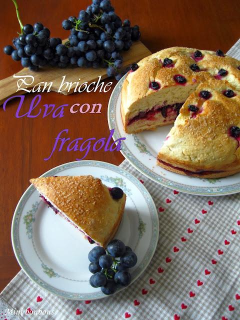pan brioche con uva fragola
