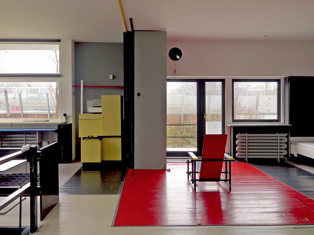 My architectural moleskine gerrit rietveld schr der house for Casa interior