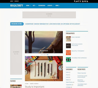 Magazinify Free Blogger Template