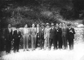 Equipos de ajedrez de Manresa y La Farga de Bebié en julio de 1932