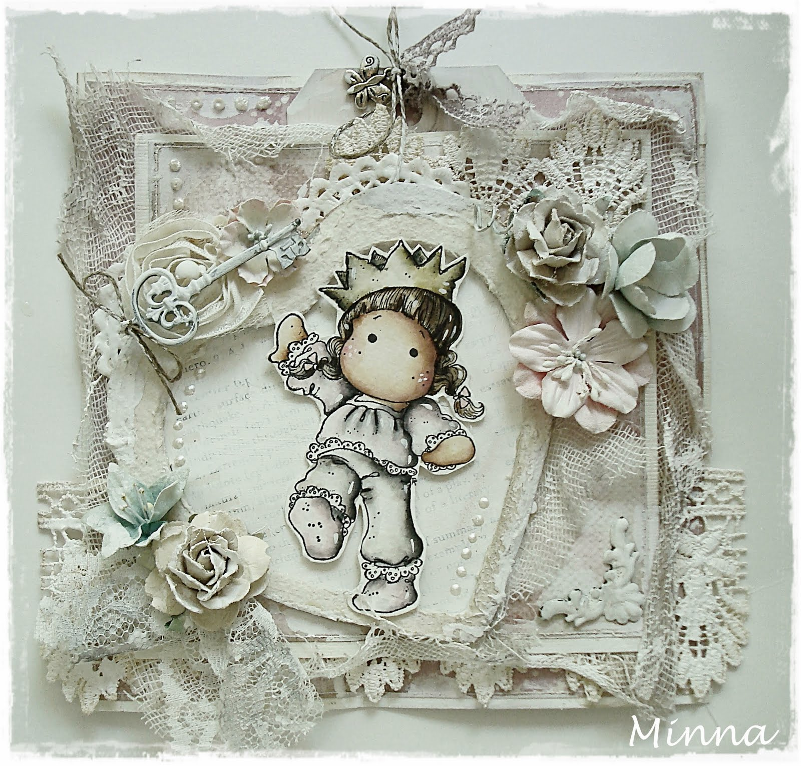 Stampartic Making Shabby Chic Looking Card
