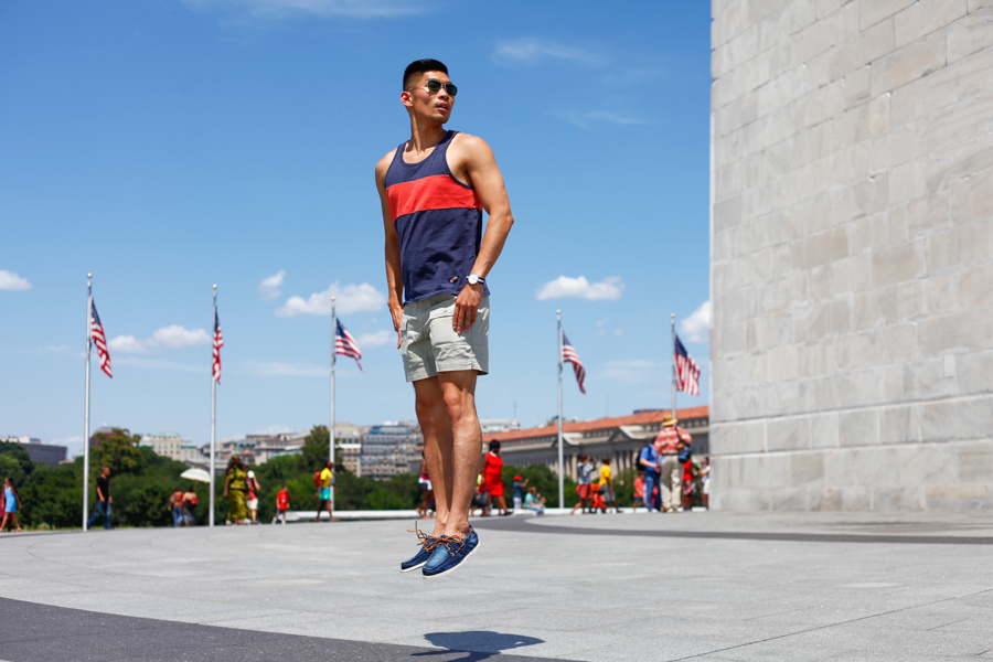 #WhereUNIQLO Levitate Style Washington DC | Summer Style Travel feat. Uniqlo, Daniel Wellington, Washington Monument, Menswear