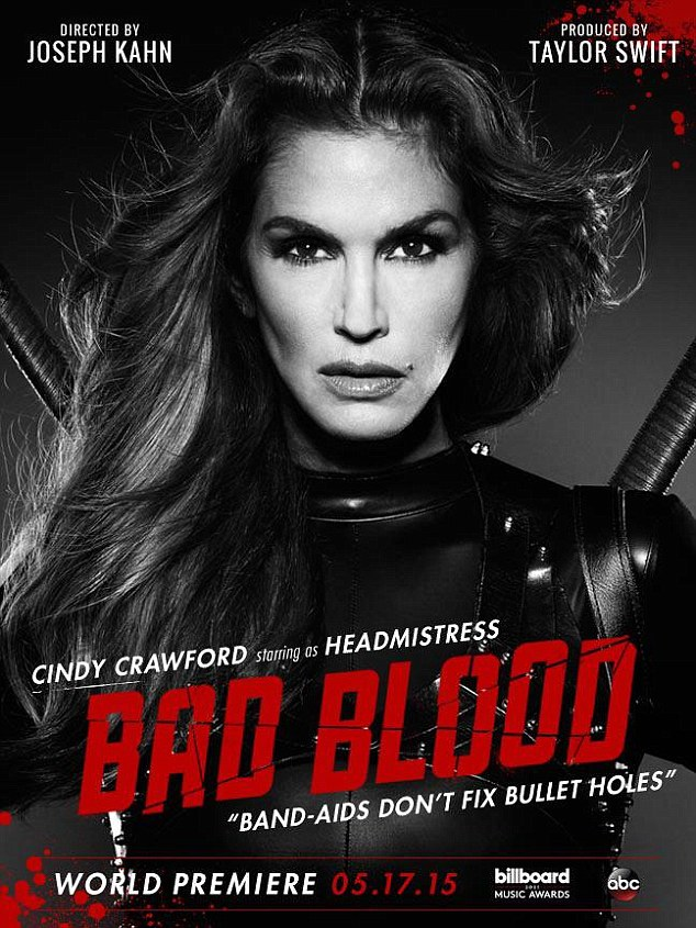 Cindy Crawford as 'Headmistress' for Bad Blood