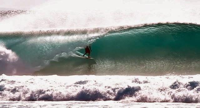 Peruvian Fabio Guidino at Desert Point ~ Indonesia