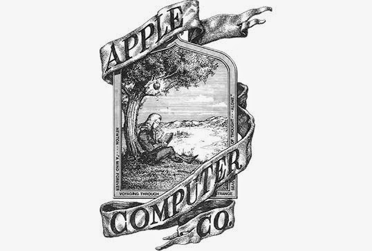 Apple logo in 90s