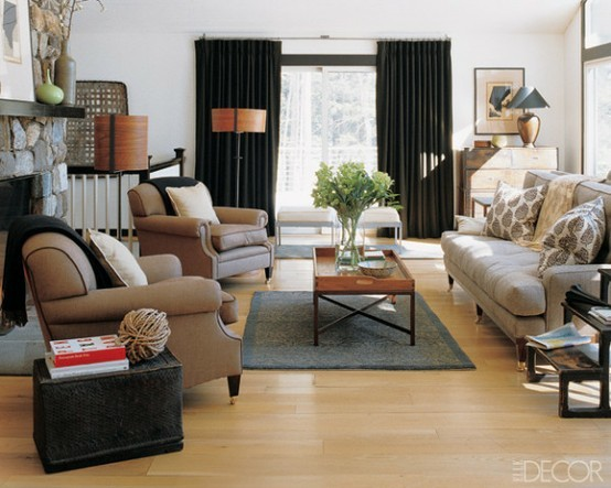 Decoración de la casa: confección cortinas negras para ...