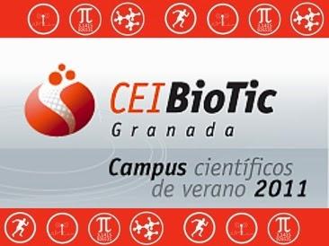 Cartel cel Campus Científico de Verano del Centro BioTic de la Universidad de Granada