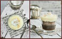 Trifle de café, chocolate y crema