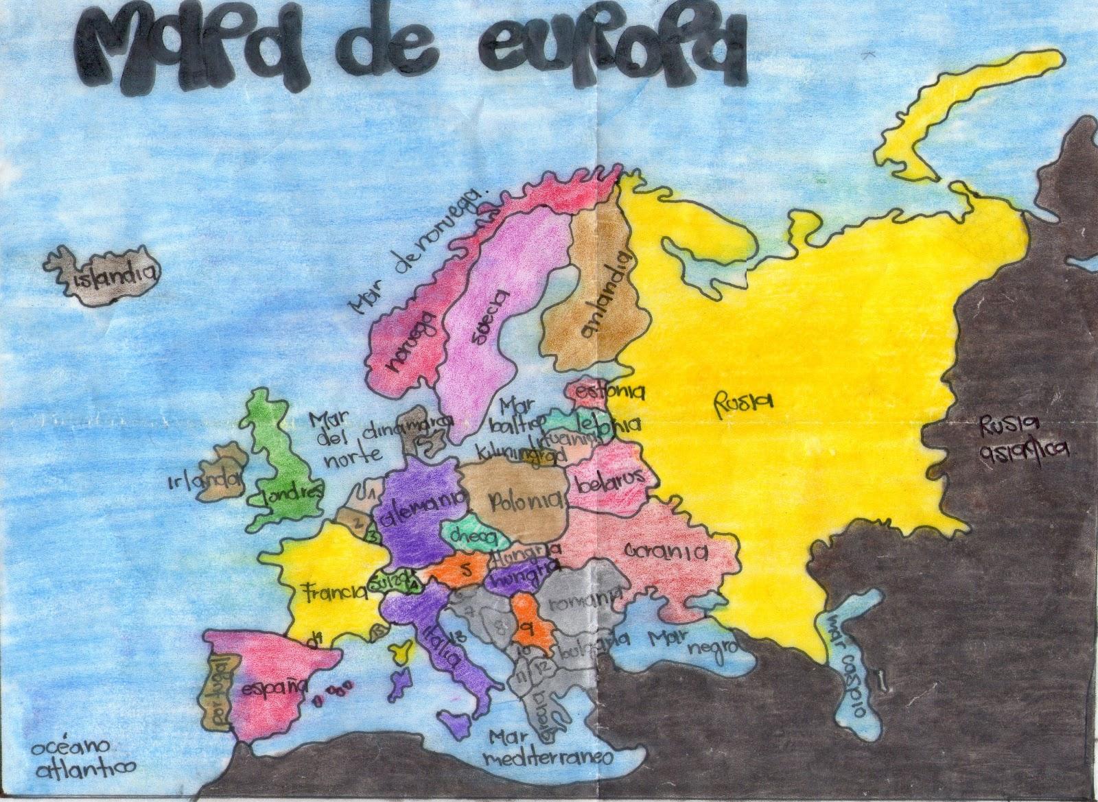 Trabajos De Ciencias Sociales Mapa De Europa