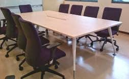 Meeting Table With Adjustable Legs, Complete With Cable Management