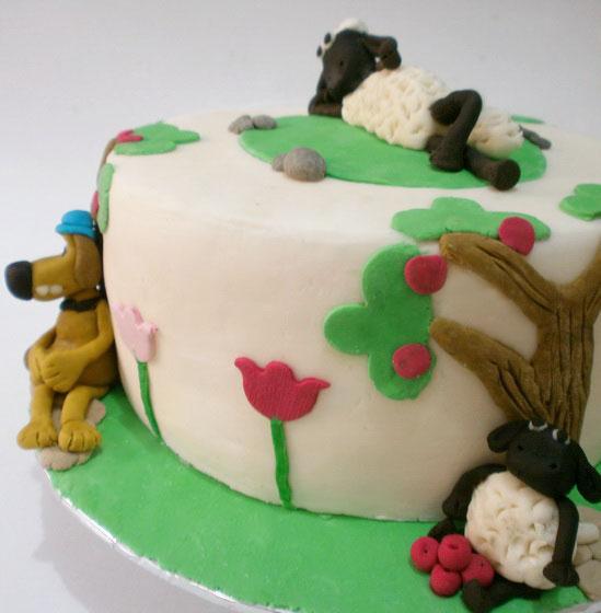 Shaun The Sheep Birthday Cake
