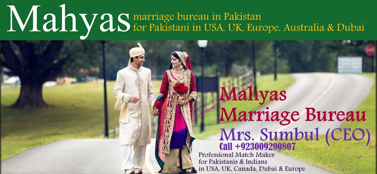 Best Marriage Bureau in Pakistan for Pakistani in USA, UK, Dubai and Canada