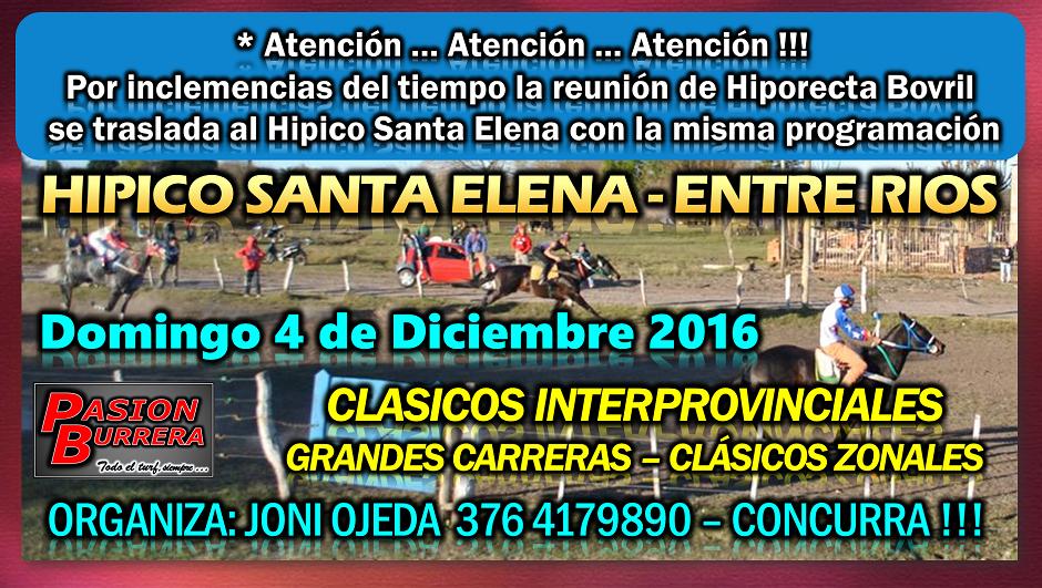 SANTA ELENA - 4 DE DICIEMBRE