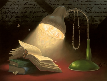 vladimir-peintre-surrealiste+reading+lam