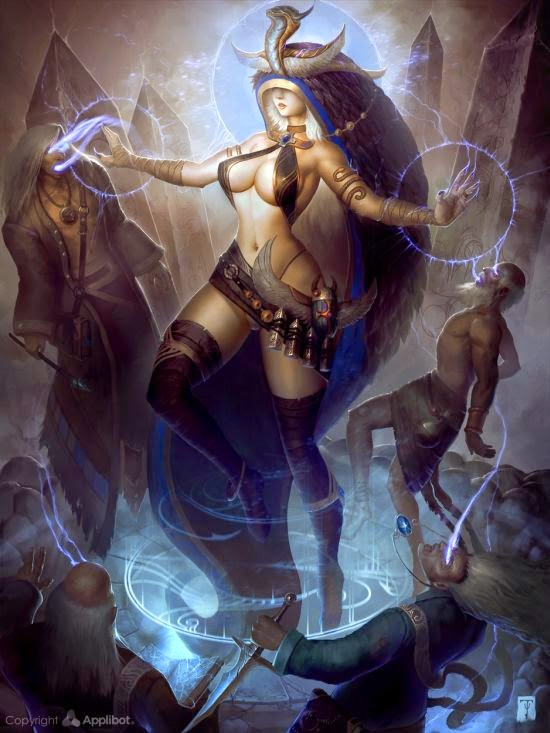 Tyler James artofty deviantart ilustrações fantasia sombrias sensuais