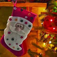 medias para navidad de santa claus
