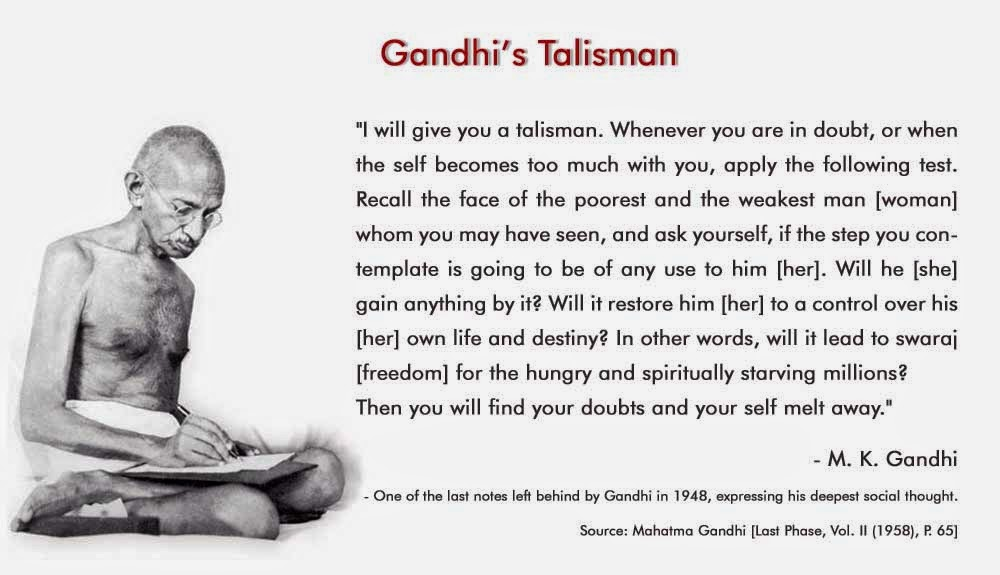 Mahatma Gandhi's Famous Quotation