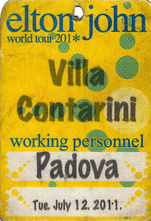 Pass Elton John Padova 2011
