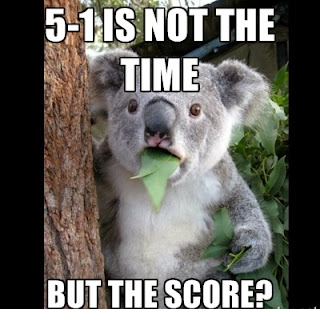 Koala meme reacting to Liverpool-Norwich
