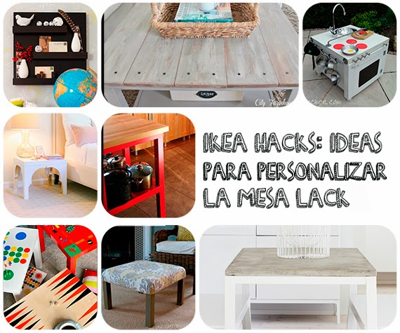 Mar vi blog ikea hacks ideas para personalizar la mesa lack - Ideas decoracion ikea ...