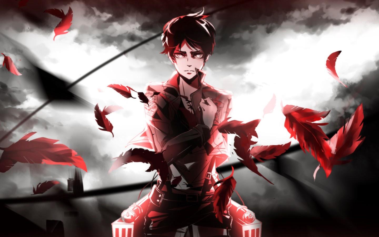 Eren jaeger salute attack on titan shingeki no kyojin anime wallpaper