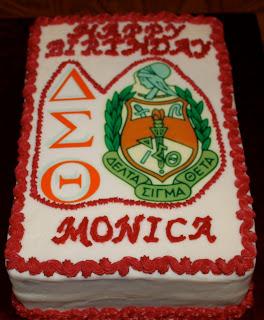 Delta Sigma Theta Sheet Cake