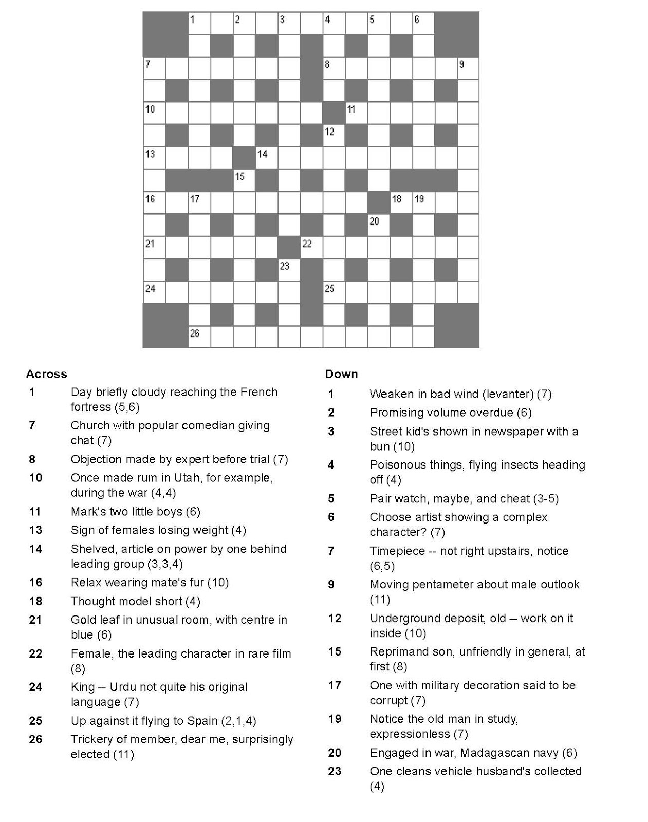Departed crossword