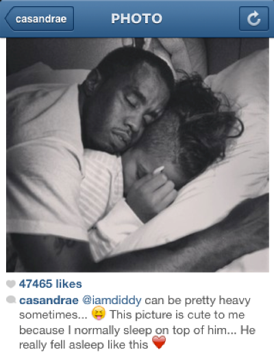 Photo: Cassie shares intimate bedroom pic of herself and Diddy