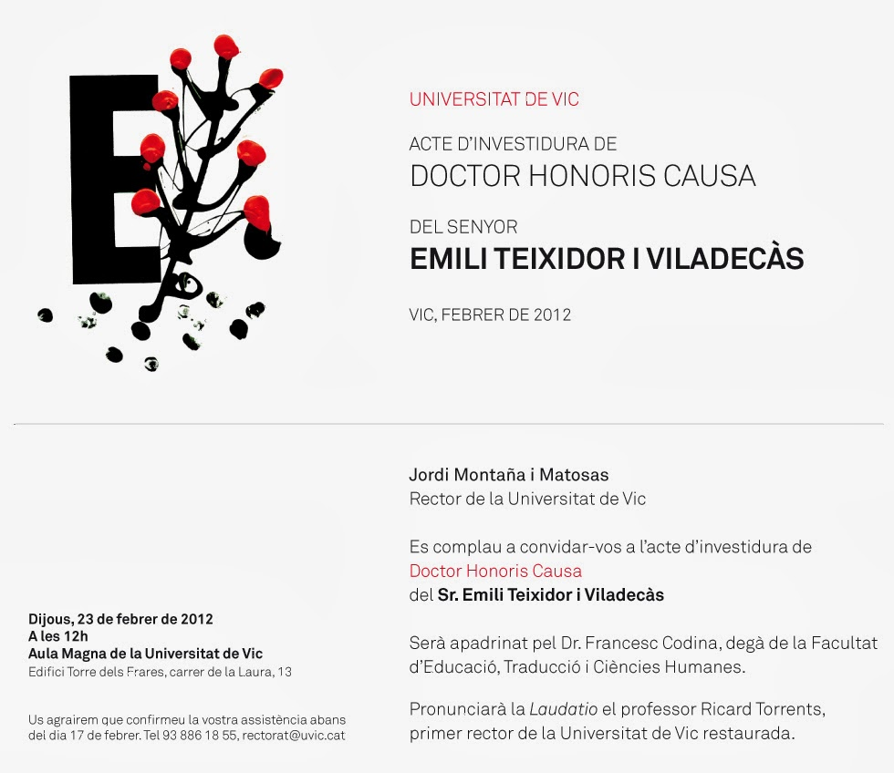 ACTE D'INVESTIDURA DOCTOR HONORIS CAUSA