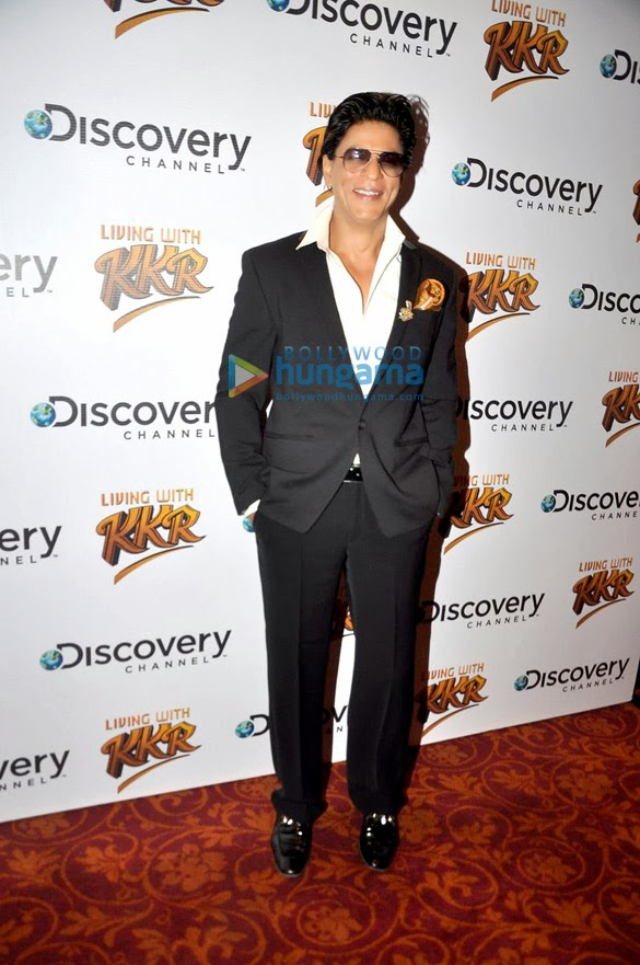 Shahrukh Khan unveils the show Living with KKR on Discovery