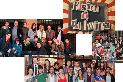 Fotos grupales de la serie de Antena 3 Física o química