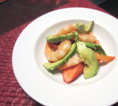 Shrimp, Avocado, and Strawberry Salad