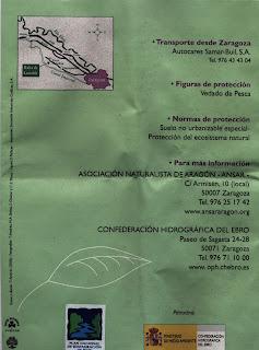 triptico C.H.E. Balsa de Larralde Torre Medina Zaragoza