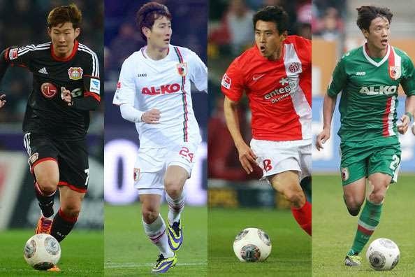Bundesliga : Son Heung Min, Ji Dong Won, Koo Ja Cheol, and Hong Jeong Ho
