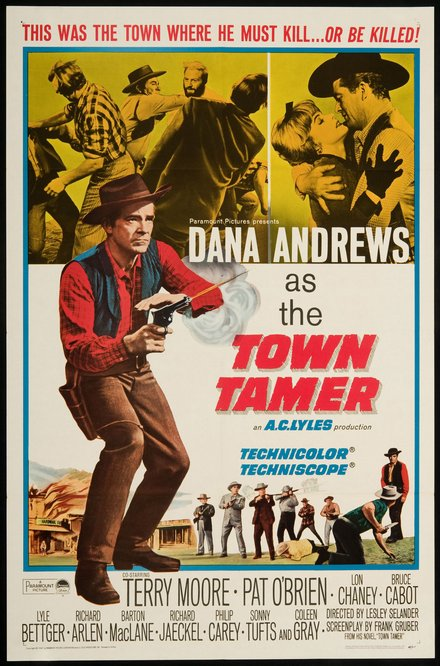 western, movies, vintage, vintage posters, graphic design, free download, retro prints, classic posters,Town Tamer - Vintage Western Movie Cowboy Poster