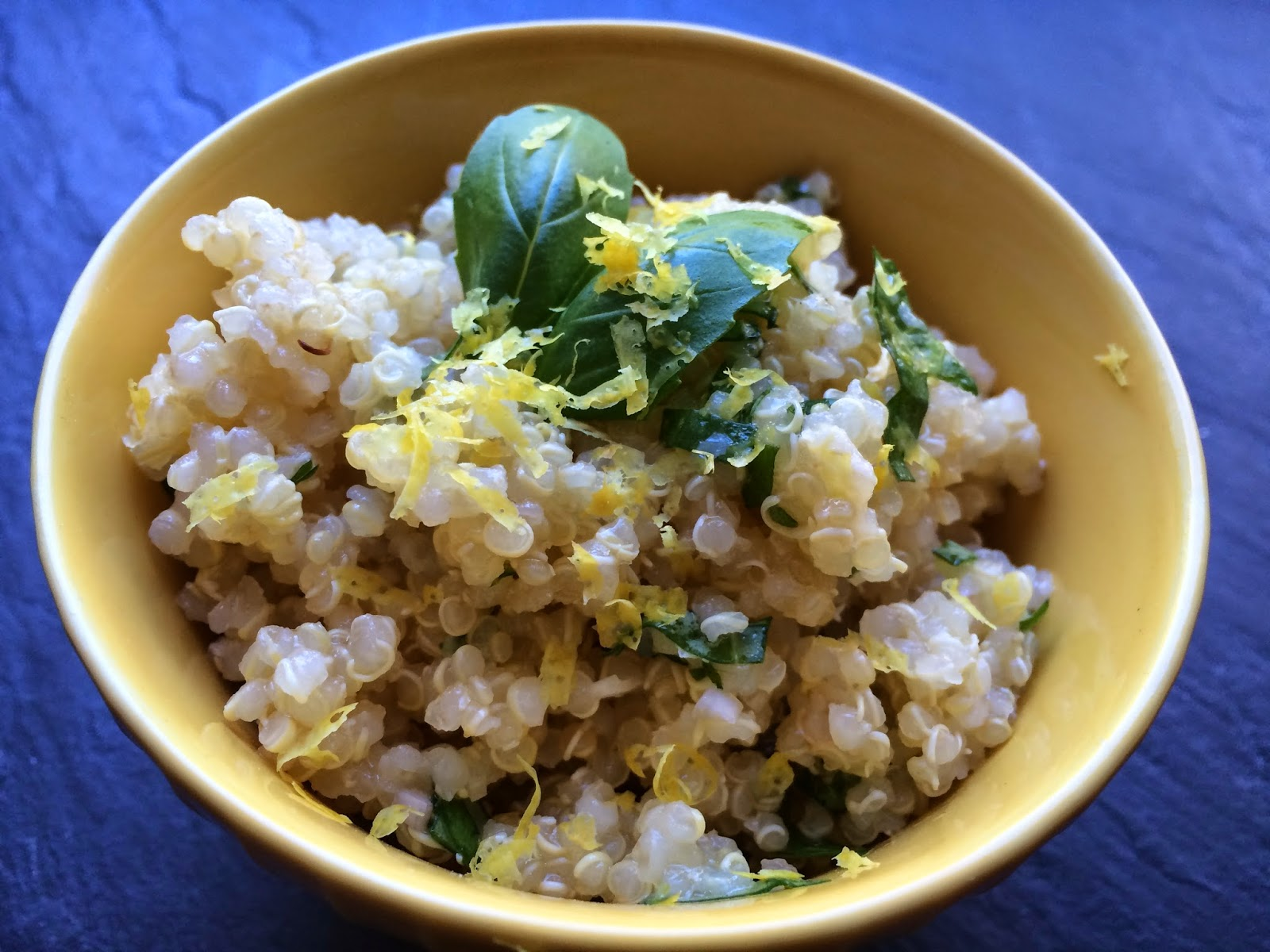 Lemon Basil Quinoa Bowls