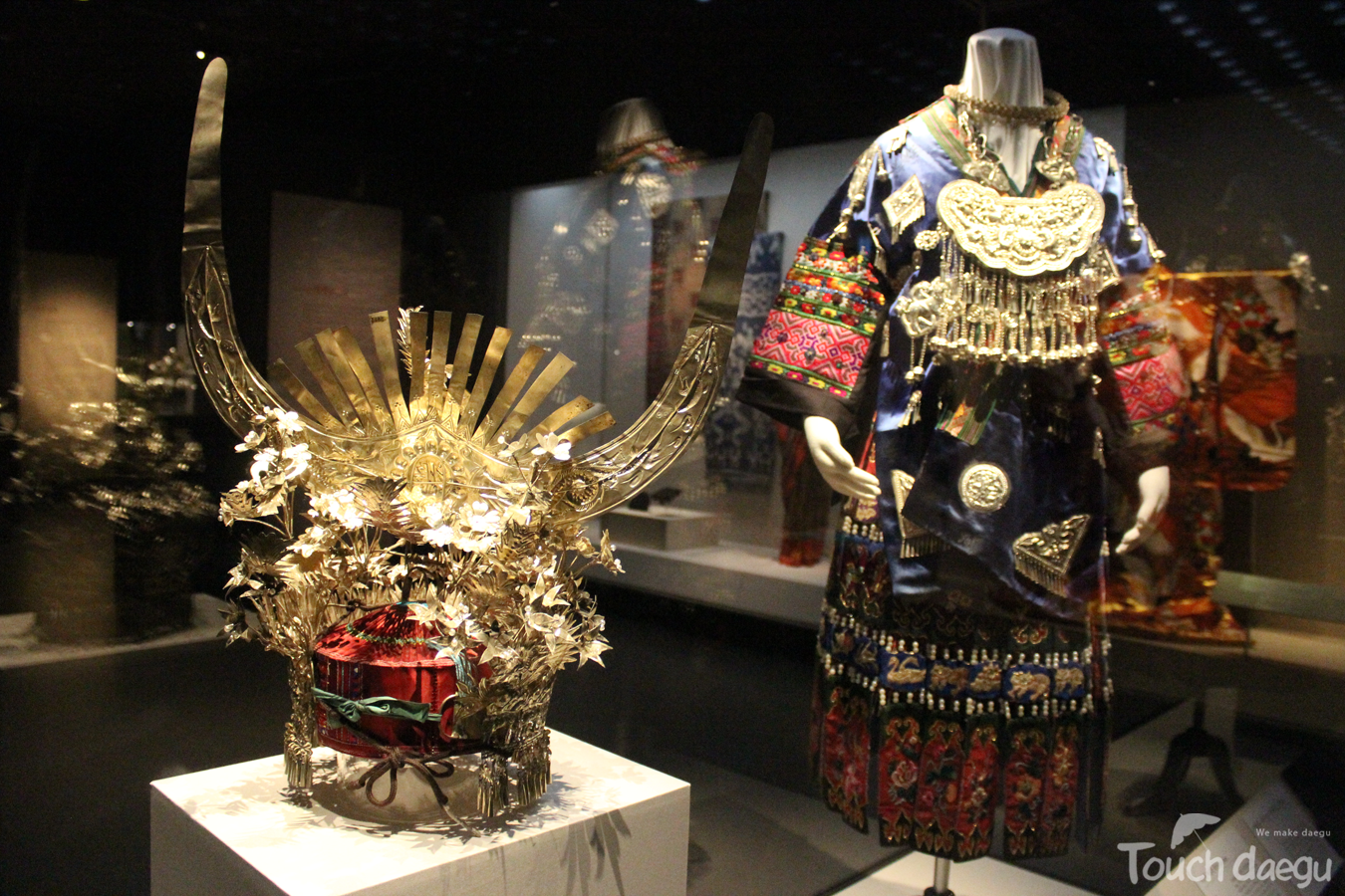 The historical artifacts in Daegu national museum