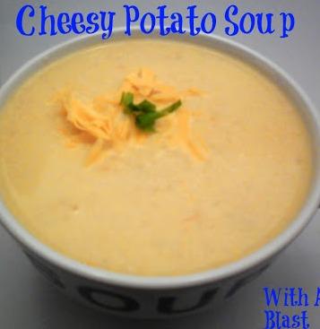 Cheesy Potato Soup ~ Comforting, warming & very filling Potato Soup #Soup #Potato Soup