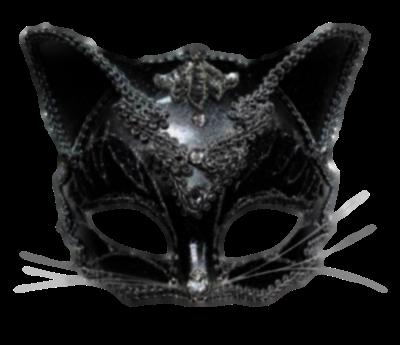 Máscara Carnaval PNG - Gato preto