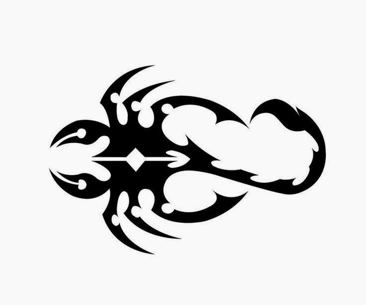 Diseño Tatuaje tribal signo Escorpión 09