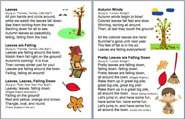 Fall Poems, Songs, Finger Plays and Chants for Autumn Shared Reading ...