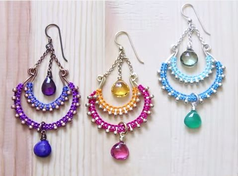 Superb If you want to create a little Bollywood style of your own try this Bollywood Chandelier Earrings tutorial by Brittany Ketcham from The Bead Shop