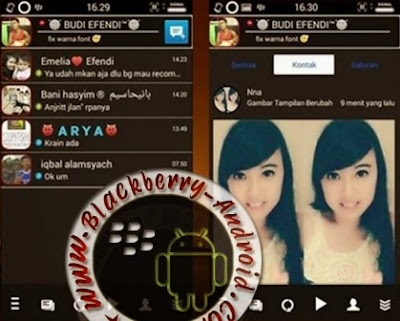 BBM Mod Gratis Tema BlackChat Mini Smophix New 2.8.0.21