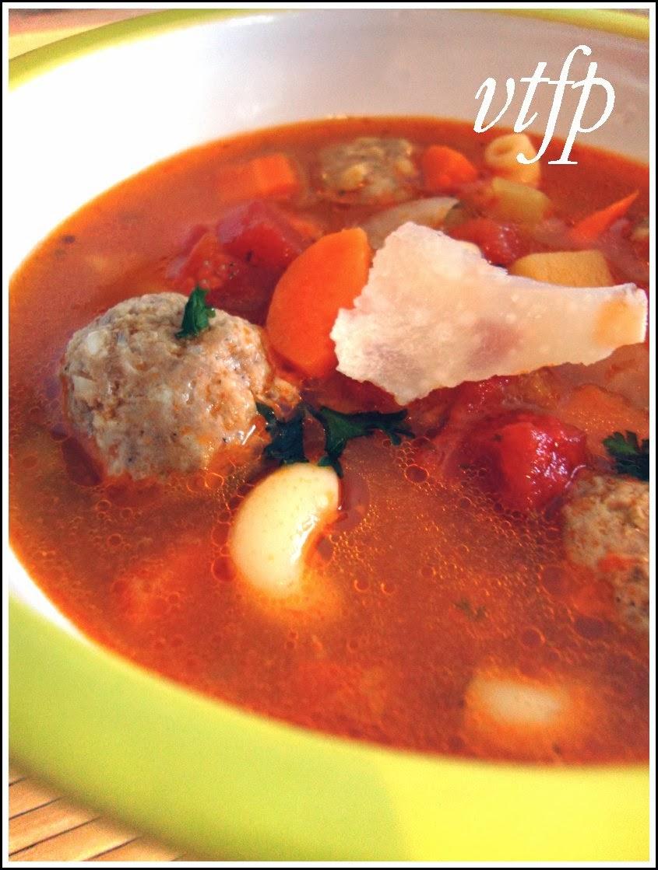 Viens te faire plaisir soupe italienne aux boulettes de viande - Appareil pour faire la soupe ...