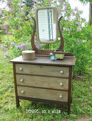 Antique Dresser Makeover from Denise on a Whim