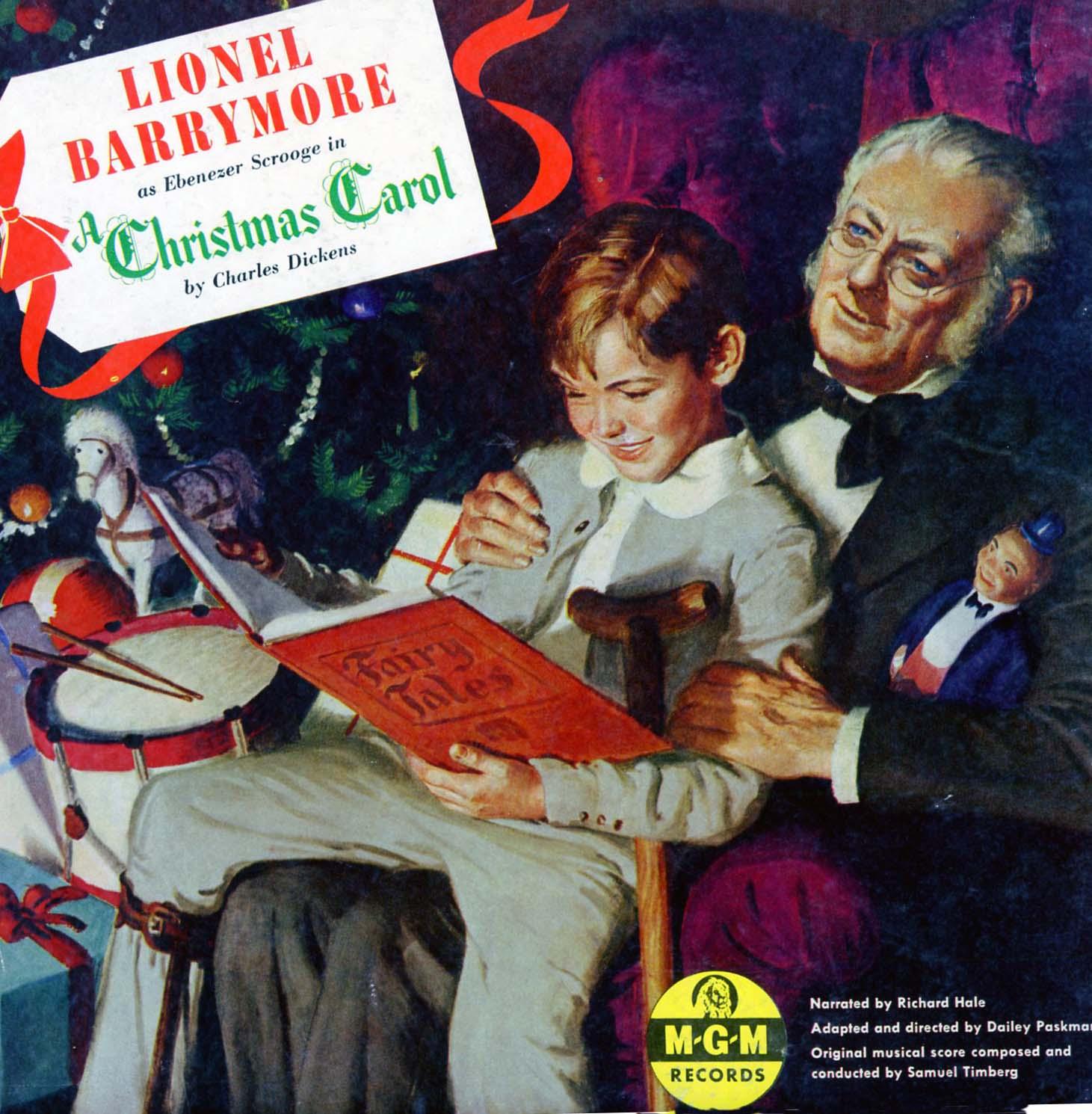 Lionel Barrymore as Ebenezer Scrooge in Dickens\' \