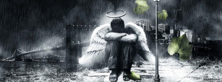 Üzgün melek facebook kapak fotoğrafı
